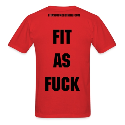 STRAIGHT FIT AS FUCK  - Men's T-Shirt