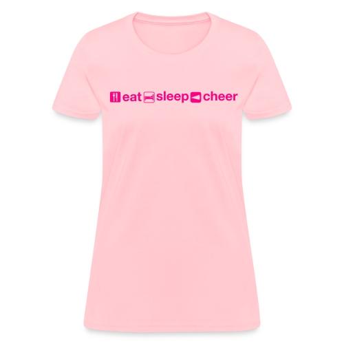 EatSleepCheer - Women's T-Shirt