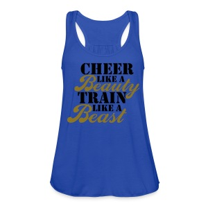 Cheer Beauty Beast TANK - Women's Flowy Tank Top by Bella
