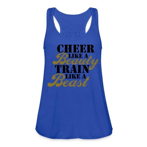 Cheer Beauty Beast TANK - Women's Flowy Tank Top by Bella