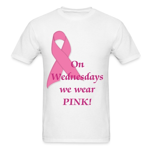 on wednesdays we wear pink - Men's T-Shirt