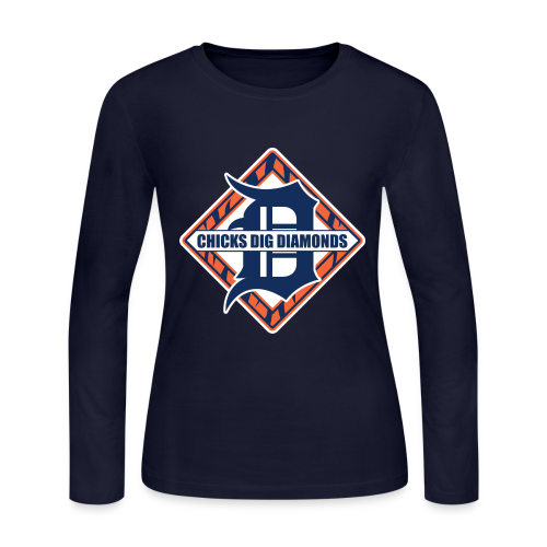 Chicks Dig Diamonds - Women's Long Sleeve Jersey T-Shirt