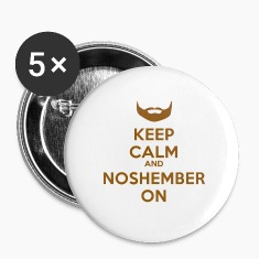 Noshember Keep Calm Button