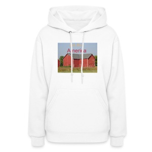 Women's Hooded 'God Bless America' - Women's Hoodie