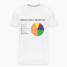 Things I will never do pie chart T-Shirts