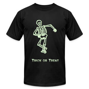 Trick or Treat Glow in the dark - Men's T-Shirt by American Apparel