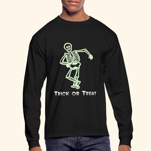 Trick or Treat Glow in the dark - Men's Long Sleeve T-Shirt
