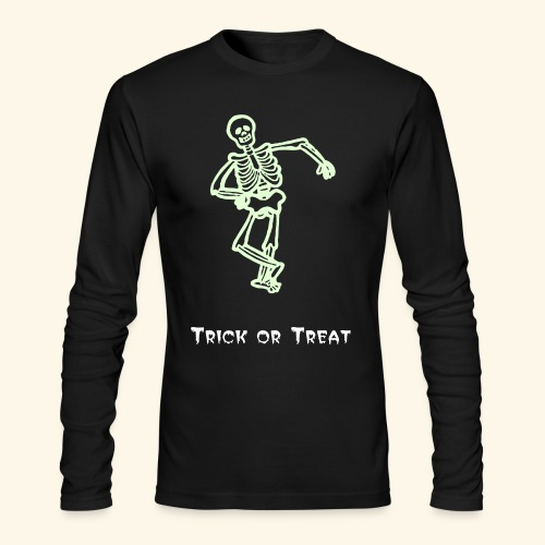Trick or Treat Glow in the dark - Men's Long Sleeve T-Shirt by Next Level