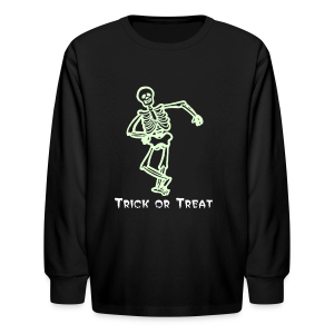 Trick or Treat Glow in the dark - Kids' Long Sleeve T-Shirt