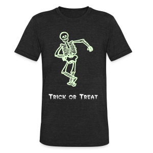 Trick or Treat Glow in the dark - Unisex Tri-Blend T-Shirt by American Apparel