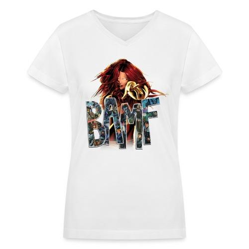 Phoenix BAMF Women's V-Neck  - Women's V-Neck T-Shirt