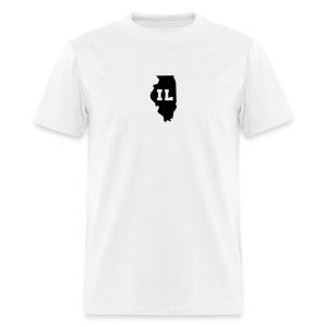 Illinois Abbreviation White-Black - Men's T-Shirt