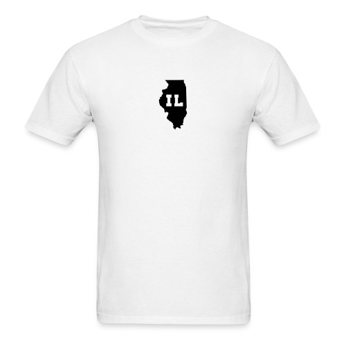 Illinois Abbreviation White-Black - Men's T-Shirt