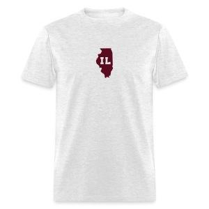 Illinois Abbreviation Light-Maroon - Men's T-Shirt