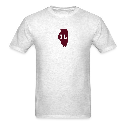 Illinois Abbreviation Light-Maroon - Men's T-Shirt