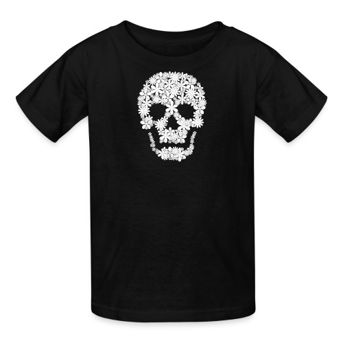 skull flowers t-shirt kid - Kids' T-Shirt