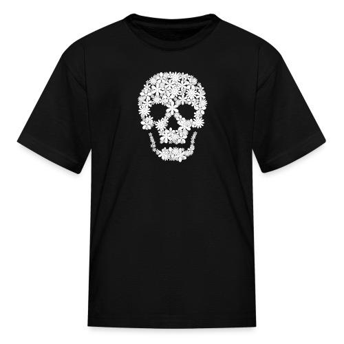 skull flowers t-shirt kid - Kids' T-Shirt
