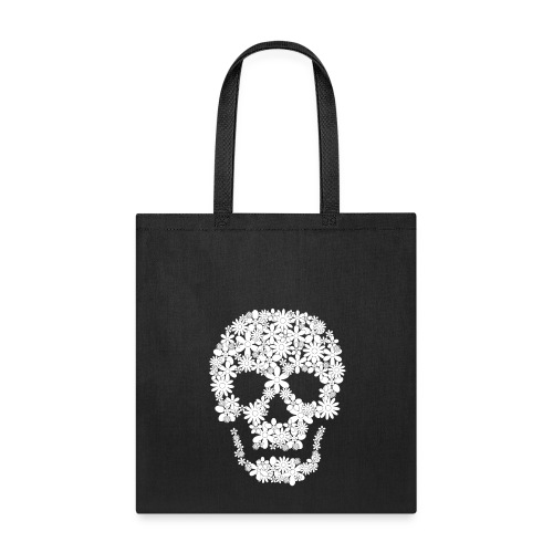 skull flowers bag - Tote Bag
