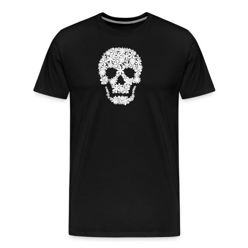 skull flowers t-shirtz men - Men's Premium T-Shirt