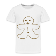 Baby & Toddler Shirts ~ Toddler Premium T-Shirt ~ Gingerbread Man
