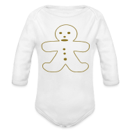 Baby Bodysuits ~ Baby Long Sleeve One Piece ~ Gingerbread Man