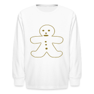 Kids' Shirts ~ Kids' Long Sleeve T-Shirt ~ Gingerbread Man