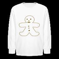 Kids' Shirts ~ Kids' Long Sleeve T-Shirt ~ Gingerbread Man