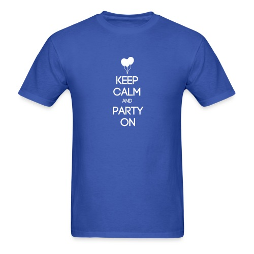 ESFP ~ Keep Calm and Party On T-shirt - Men's T-Shirt