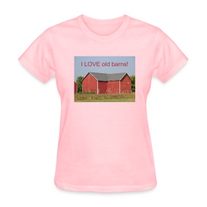 'I LOVE old barns' Women's standard T-shirt - Women's T-Shirt