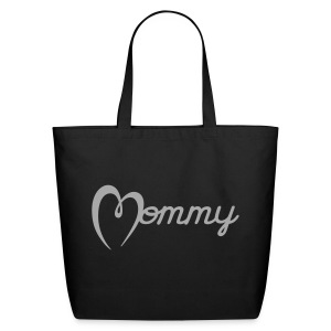 Mommy Tote Bag (Silver GLITTER) - Eco-Friendly Cotton Tote