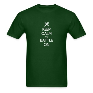 ENTJ ~ Keep Calm and Battle On T-shirt - Men's T-Shirt