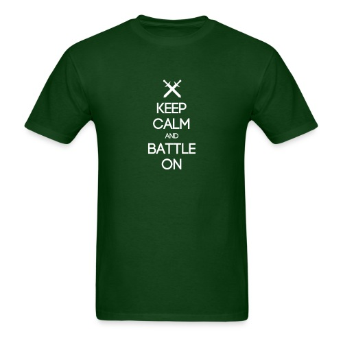 ENTJ ~ Keep Calm and Battle On T-shirt - Men's T-Shirt