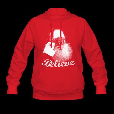 Santa Claus BELIEVE Monochrome Hooded Sweatshirt