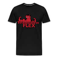 T-Shirts ~ Men's Premium T-Shirt ~ Tyrannosaurus Flex for guys