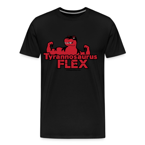 Tyrannosaurus Flex for guys - Men's Premium T-Shirt