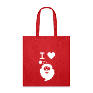 Bags & backpacks ~ Tote Bag ~ I LOVE SANTA CLAUS - Tote Bag