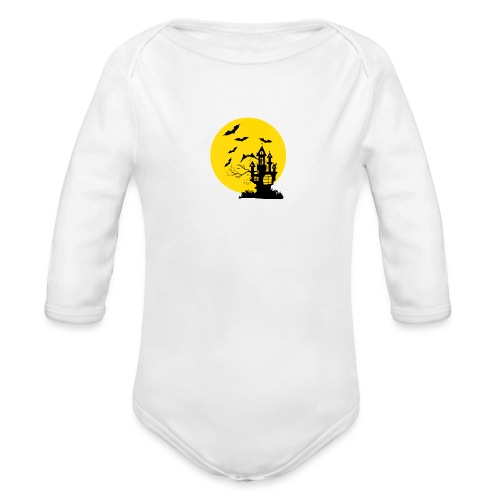 Haunted Castle - Organic Long Sleeve Baby Bodysuit