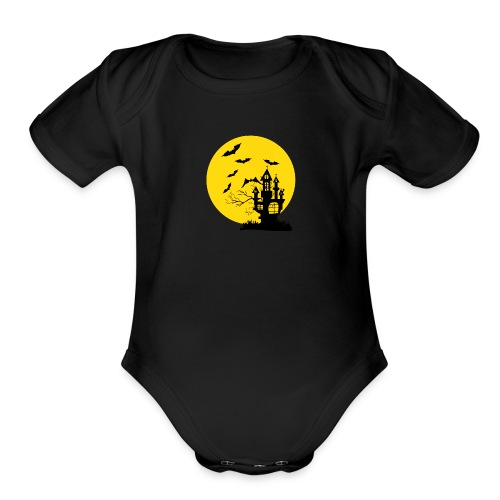 Haunted Castle - Organic Short Sleeve Baby Bodysuit
