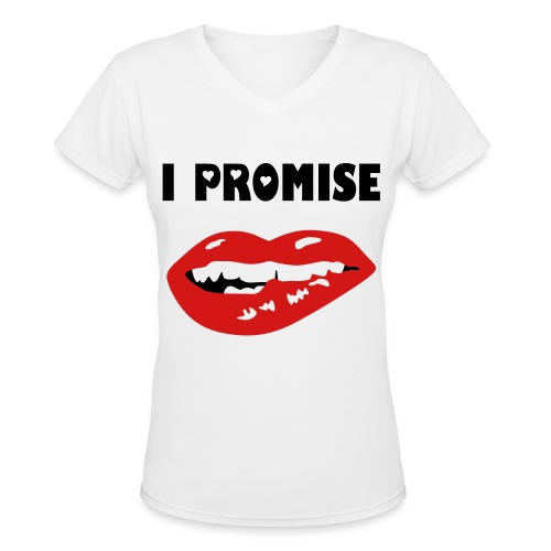I PROMISE - Women's V-Neck T-Shirt