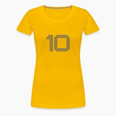 Number 10 Points Design Women's T-Shirts
