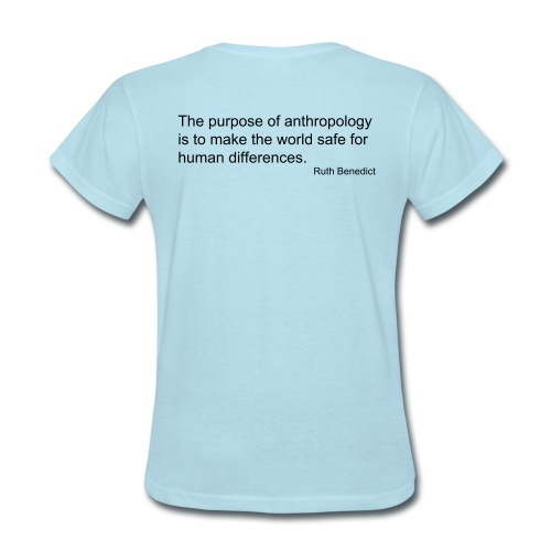 Dark Cultural Anthropology Fitted Shirt Design with quote by Ruth Benedict - Women's T-Shirt
