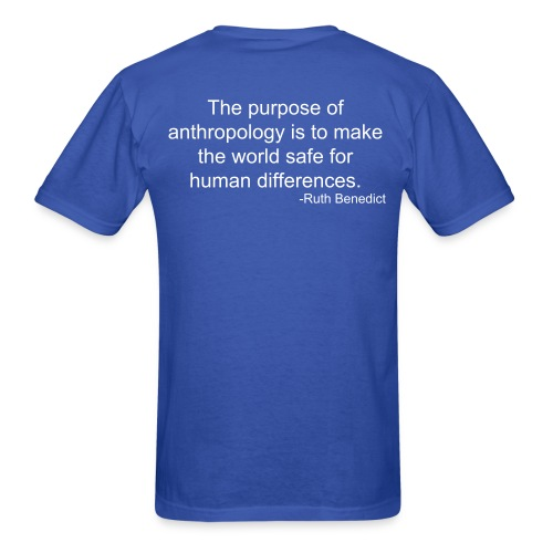 Light Cultural Anthropology Regular Shirt Design with quote by Ruth Benedict - Men's T-Shirt