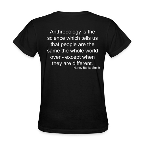 Light Cultural Anthropology Fitted Shirt Design with a quote by Nancy Banks Smith - Women's T-Shirt