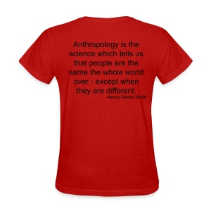 Dark Cultural Anthropology Fitted Shirt Design with a quote by Nancy Banks Smith - Women's T-Shirt