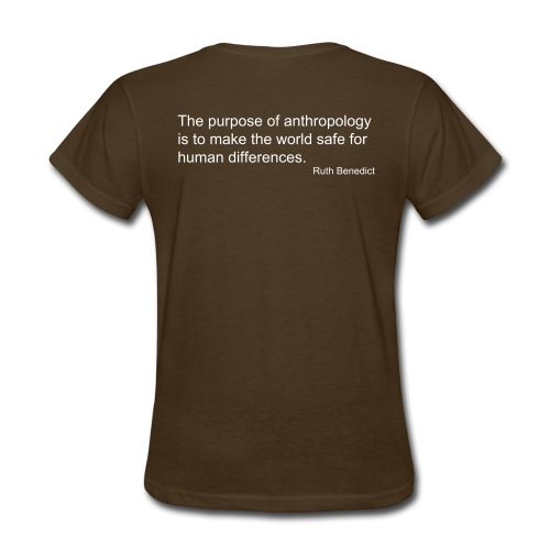 Light Cultural Anthropology Fitted Shirt Design with quote by Ruth Benedict - Women's T-Shirt
