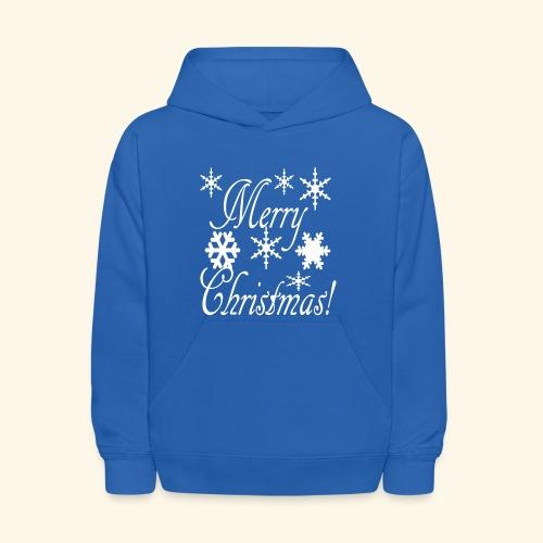 Merry Christmas Snowflakes - Kids' Hoodie