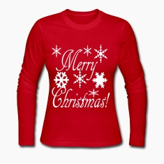 merry_christmas_snowflakes2 Long Sleeve Shirts