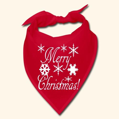 Merry Christmas Snowflakes - Bandana