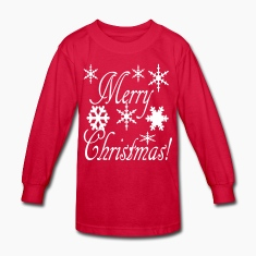 merry_christmas_snowflakes2 Kids' Shirts