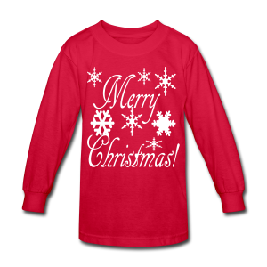 Merry Christmas Snowflakes - Kids' Long Sleeve T-Shirt